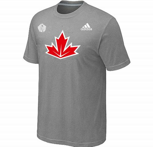 Canada Hockey  L.Grey 2016 World Cup of Hockey Primary Logo Ultimate climalite T-Shirt