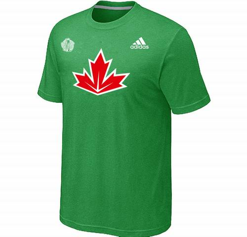Canada Hockey Apple Green 2016 World Cup of Hockey Primary Logo Ultimate climalite T-Shirt