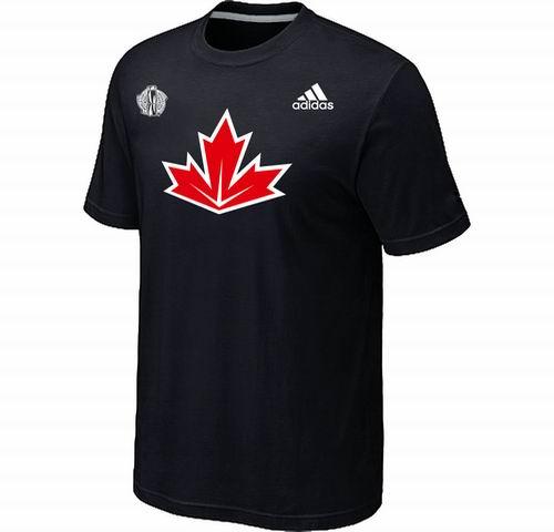 Canada Hockey Black 2016 World Cup of Hockey Primary Logo Ultimate climalite T-Shirt