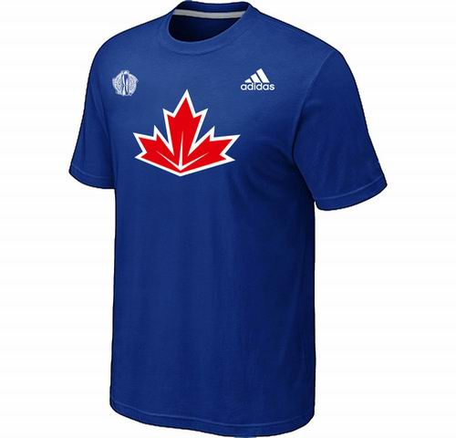 Canada Hockey Blue 2016 World Cup of Hockey Primary Logo Ultimate climalite T-Shirt