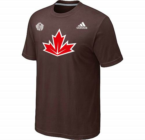 Canada Hockey Brown 2016 World Cup of Hockey Primary Logo Ultimate climalite T-Shirt