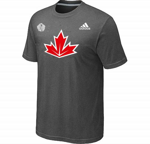 Canada Hockey D.Grey 2016 World Cup of Hockey Primary Logo Ultimate climalite T-Shirt