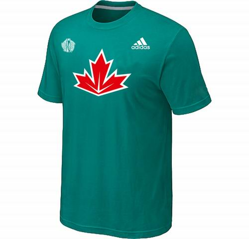 Canada Hockey Green 2016 World Cup of Hockey Primary Logo Ultimate climalite T-Shirt