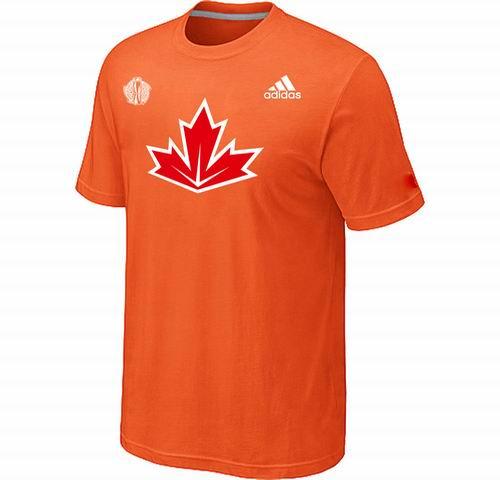 Canada Hockey Orange 2016 World Cup of Hockey Primary Logo Ultimate climalite T-Shirt