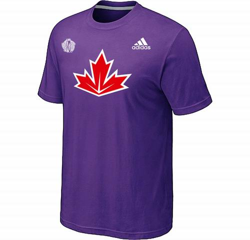 Canada Hockey Purple 2016 World Cup of Hockey Primary Logo Ultimate climalite T-Shirt