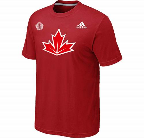 Canada Hockey Red 2016 World Cup of Hockey Primary Logo Ultimate climalite T-Shirt