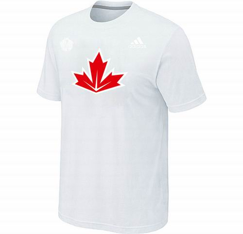 Canada Hockey White 2016 World Cup of Hockey Primary Logo Ultimate climalite T-Shirt