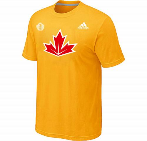 Canada Hockey Yellow 2016 World Cup of Hockey Primary Logo Ultimate climalite T-Shirt