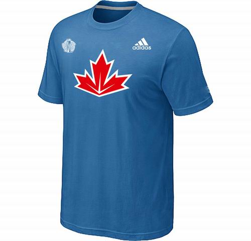 Canada Hockey light Blue 2016 World Cup of Hockey Primary Logo Ultimate climalite T-Shirt
