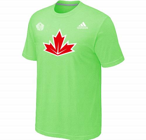 Canada Hockey light apple green 2016 World Cup of Hockey Primary Logo Ultimate climalite T-Shirt