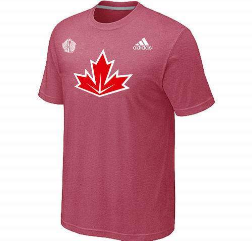 Canada Hockey pink 2016 World Cup of Hockey Primary Logo Ultimate climalite T-Shirt