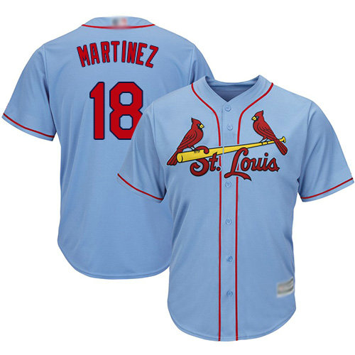Cardinals #18 Carlos Martinez Light Blue Cool Base Stitched Youth Baseball Jersey