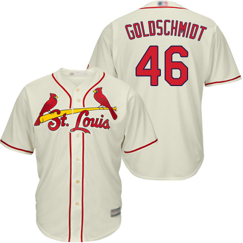 Cardinals #46 Paul Goldschmidt Cream Cool Base Stitched Youth Baseball Jersey