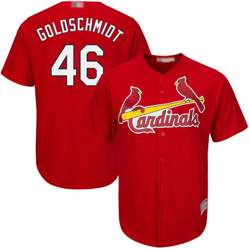 Cardinals #46 Paul Goldschmidt Red Cool Base Stitched Youth Baseball Jersey