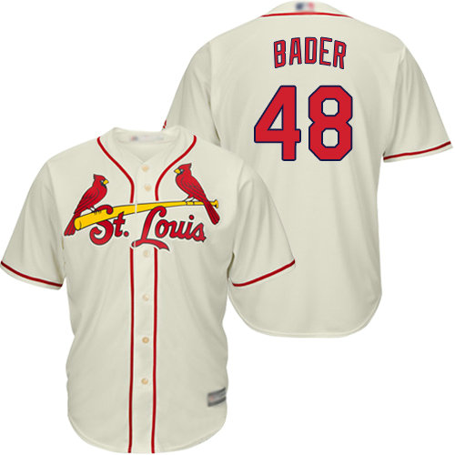 Cardinals #48 Harrison Bader Cream Cool Base Stitched Youth Baseball Jersey