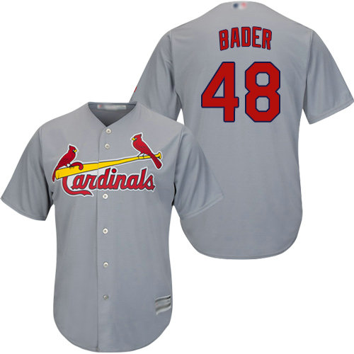 Cardinals #48 Harrison Bader Grey Cool Base Stitched Youth Baseball Jersey