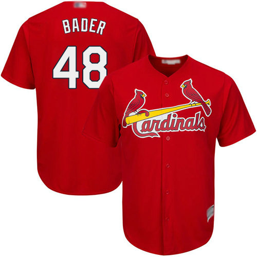 Cardinals #48 Harrison Bader Red Cool Base Stitched Youth Baseball Jersey
