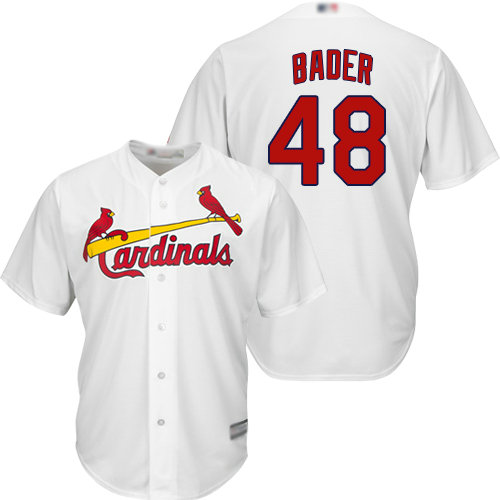 Cardinals #48 Harrison Bader White Cool Base Stitched Youth Baseball Jersey