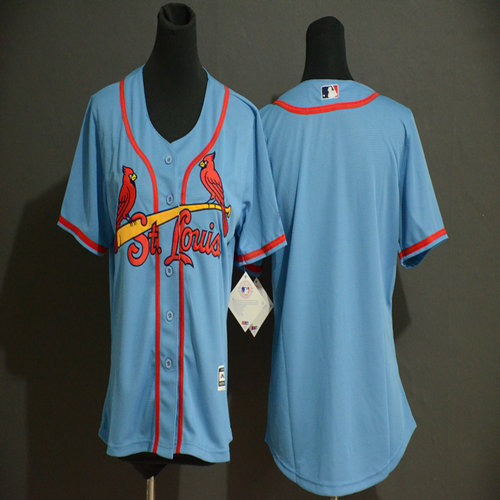 Cardinals Blank Youth Light Blue Flexbase Jersey