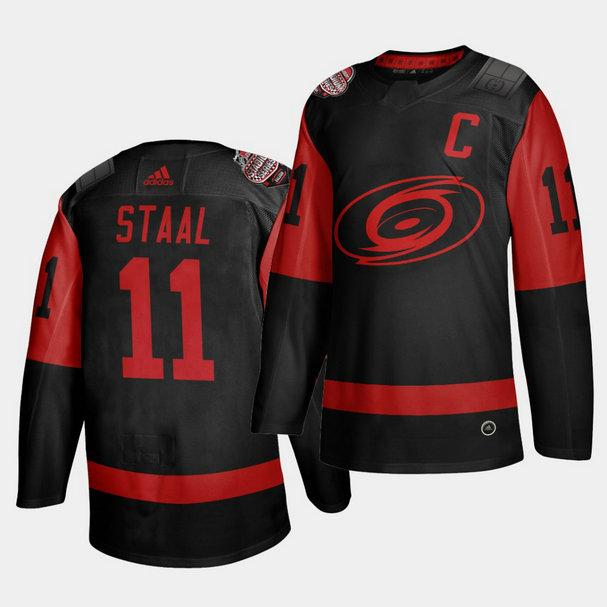 Carolina Hurricanes #11 Jordan Staal Black Men's 2021 Stadium Series Outdoor Game Jersey