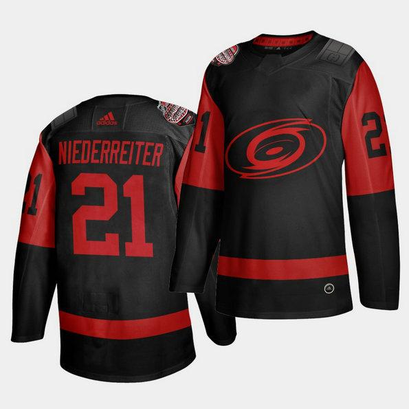 Carolina Hurricanes #21 Nino Niederreiter Black Men's 2021 Stadium Series Outdoor Game Jersey