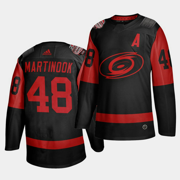 Carolina Hurricanes #48 Jordan Martinook Black Men's 2021 Stadium Series Outdoor Game Jersey