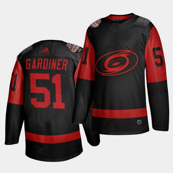 Carolina Hurricanes #51 Jake Gardiner Black Men's 2021 Stadium Series Outdoor Game Jersey