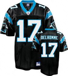 Carolina Panthers #17 Jake Delhomme black Jersey