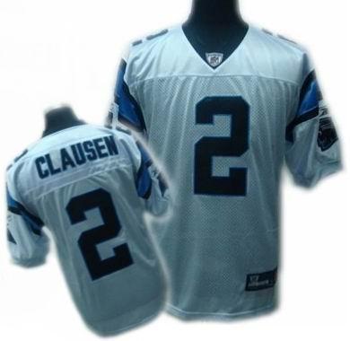 Carolina Panthers #2 Jimmy Clausen Jerseys white