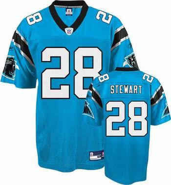 Carolina Panthers #28 Jonathan Stewart blue jersey