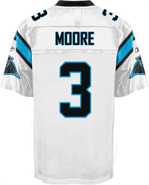 Carolina Panthers #3 Matt Moore Jerseys White
