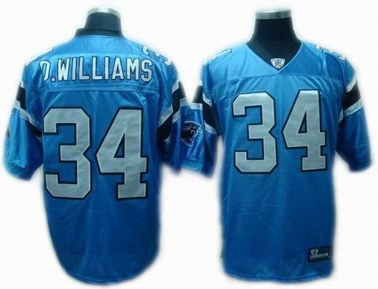 Carolina Panthers #34 DeAngelo Williams Alternate Jerseys LT BLUE