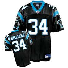 Carolina Panthers #34 DeAngelo Williams Team black Color Jersey