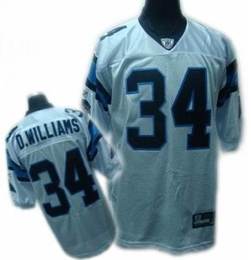 Carolina Panthers #34 DeAngelo Williams jerseys white