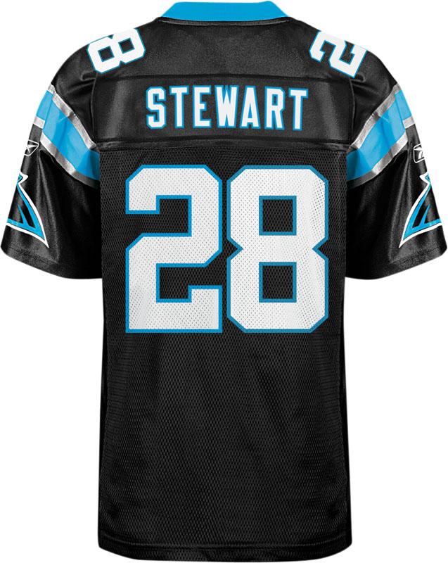 Carolina Panthers 28# Jonathan Stewart black jerseys