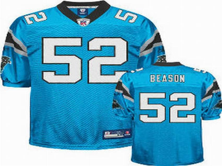 Carolina Panthers 52 Jon Beason Jersey LT blue