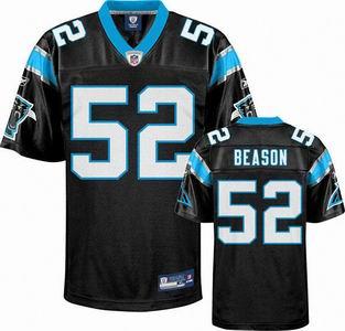 Carolina Panthers 52 Jon Beason black jerseys