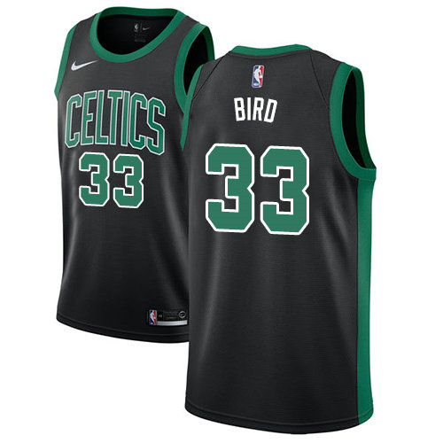 Celtics #33 Larry Bird Black Basketball Swingman Statement Edition Jersey
