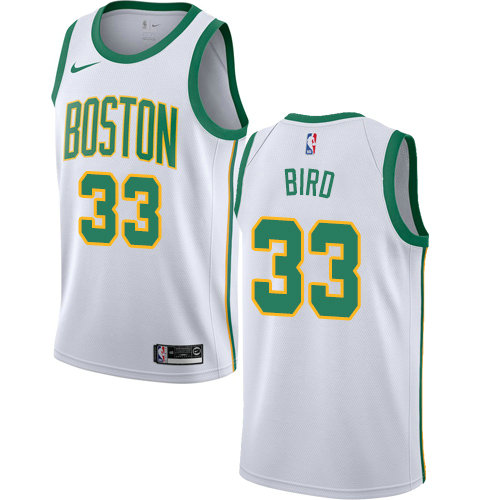 Celtics #33 Larry Bird White Basketball Swingman City Edition 2018 19 Jersey