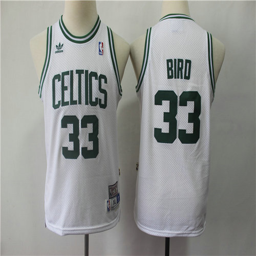 Celtics 33 Larry Bird White Youth Hardwood Classics Jersey