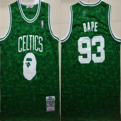 Celtics 93 Bape Green 1985-86 Hardwood Classics Jersey