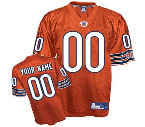 Chicago Bears Customized orange Alternate Jerseys