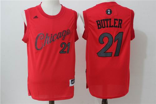 Chicago Bulls #21 Jimmy Butler Red 2016 Christmas Day Jersey