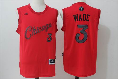 Chicago Bulls #3 Dwyane Wade Red 2016 Christmas Day Jersey