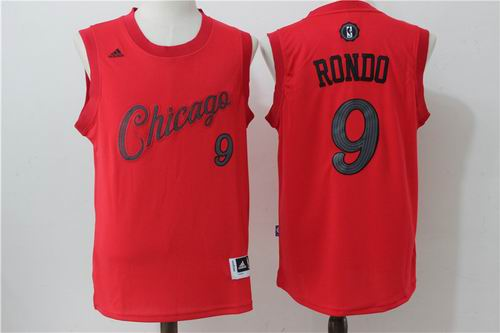Chicago Bulls #9 Rajon Rond red 2016 Christmas Day Jersey