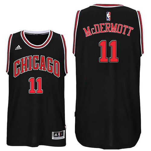 Chicago Bulls 11 Doug McDermott 2016 Alternate Black New Swingman Jersey
