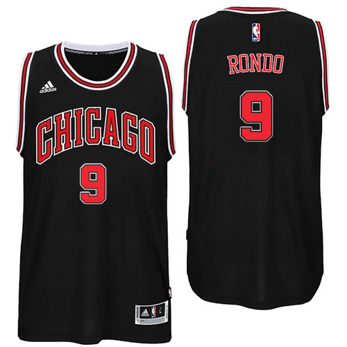 Chicago Bulls 9 Rajon Rondo Alternate Black New Swingman Jersey