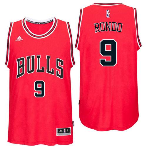 Chicago Bulls 9 Rajon Rondo Road Red New Swingman Jersey