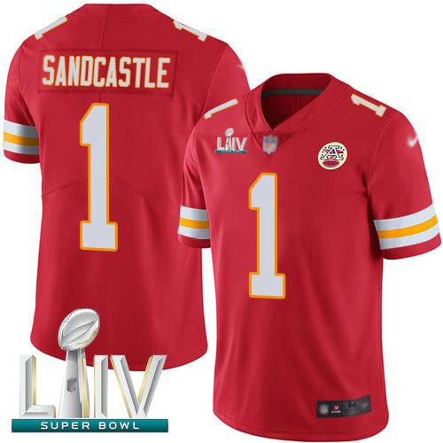 Chiefs #1 Leon Sandcastle Red Team Color Super Bowl LIV Bound Men's Stitched Football Vapor Untouchable Limited Jersey