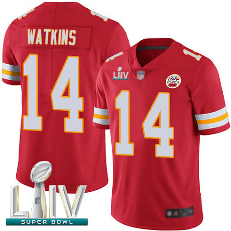 Chiefs #14 Sammy Watkins Red Team Color Super Bowl LIV Bound Youth Stitched Football Vapor Untouchable Limited Jersey